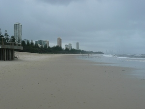 view from Burleigh Beach, Gold Coast