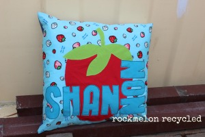 rockmelon recycled strawberry pillow