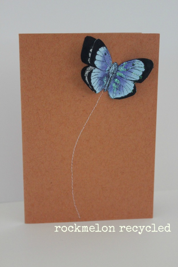 rockmelon recycled butterfly card