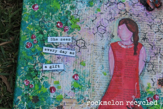 rockmelon recycled she art she sees every day as a gift