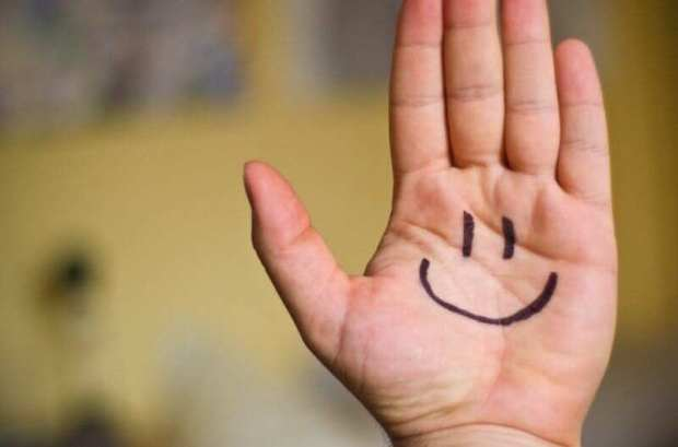 smile on hand