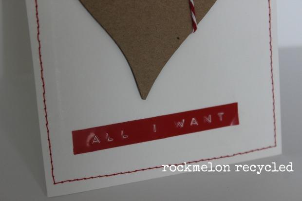 rockmelon recycled handmade Christmas card all i want for Christmas