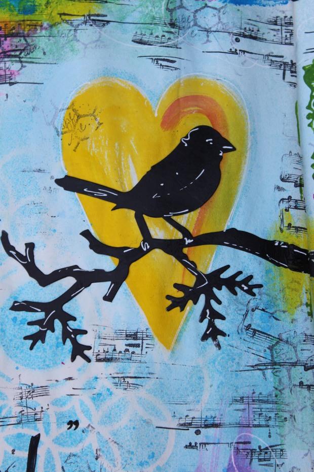art journal bird