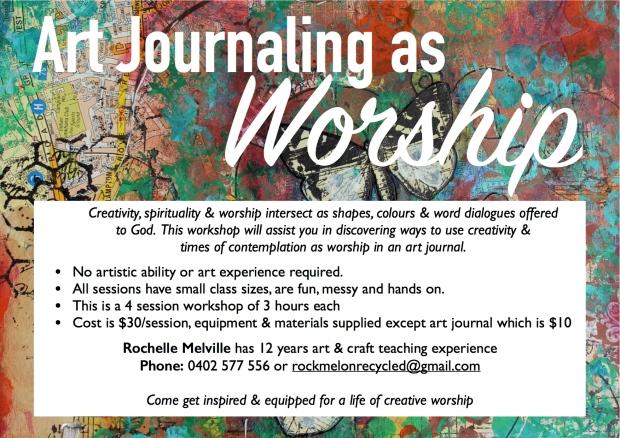 Art Journalling as Worship Flyer