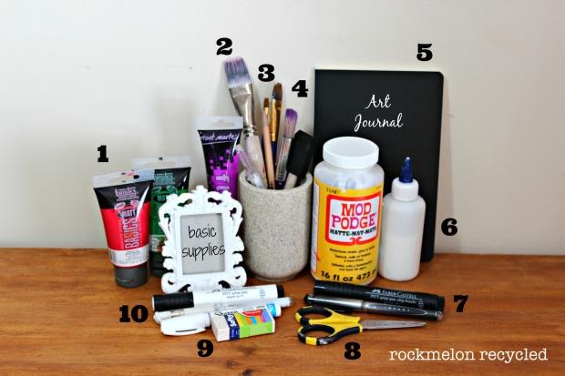 basic art journal supplies list watermarked jpg