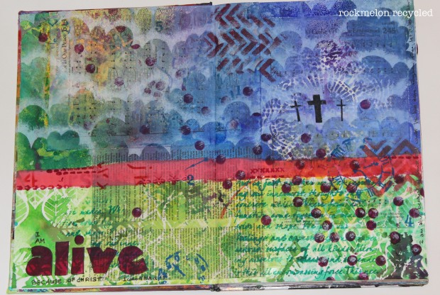 easter art journaling