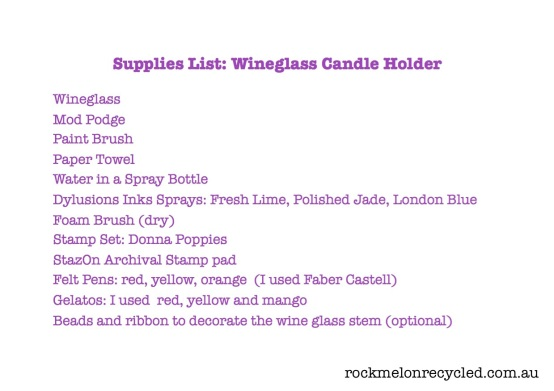 supplies list wineglass candle holder jpeg